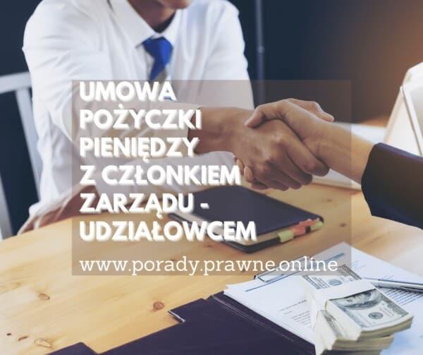 umowa pożyczki z członkiem zarządu