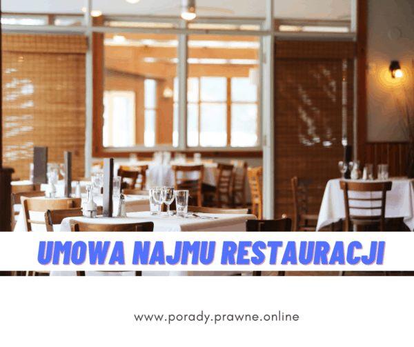 umowa najmu restauracji