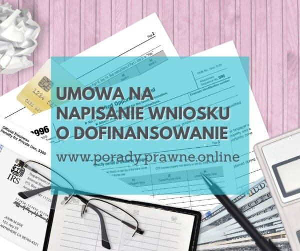 umowa na pisanie wniosków o dofinansowanie