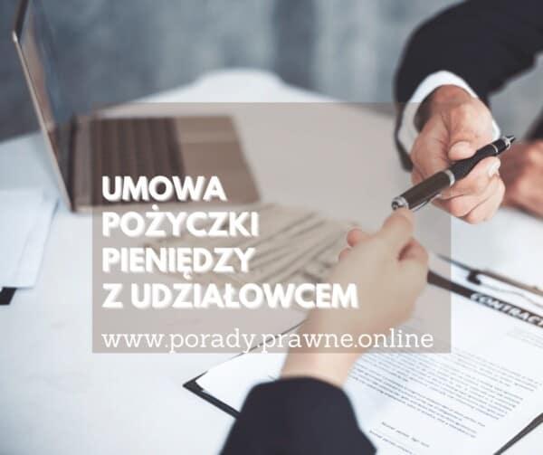 umowa pożyczki z udziałowcem