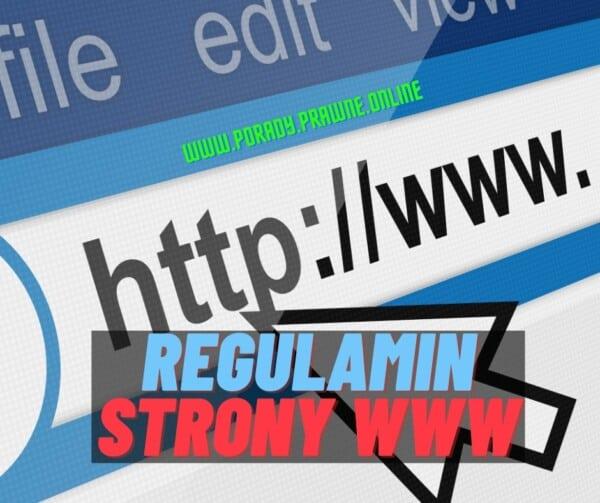 regulamin strony www
