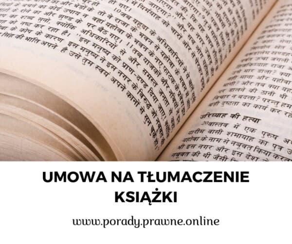 umowa na tłumaczenie książki