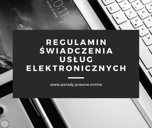 regulamin świadczenia usług elektronicznych